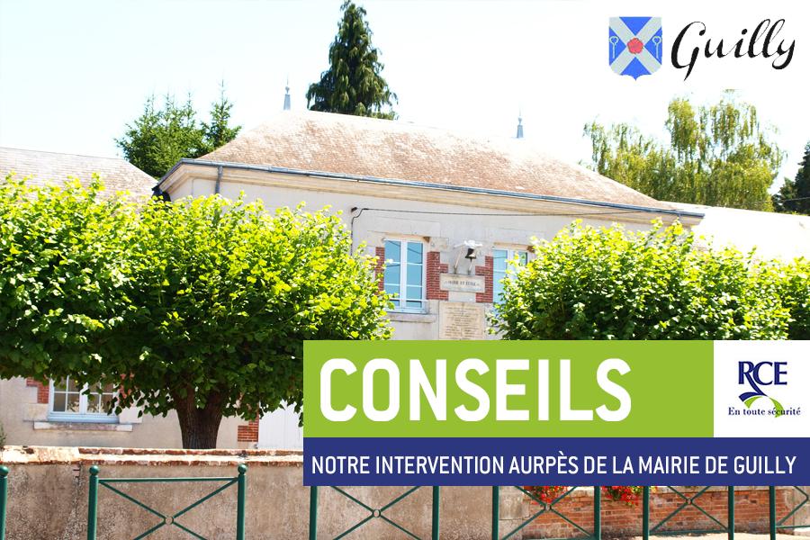 La mairie de Guilly (Loiret) a fait appel à RCE pour sécuriser ses bâtiments et ceux de l'école de la ville.