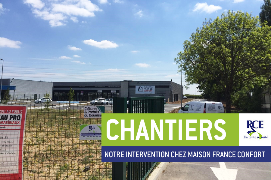 RCE sécurise la nouvelle agence Maison France Confort à Hénin-Beaumont